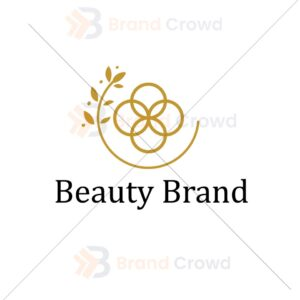 Beauty and cosmetic brand logo